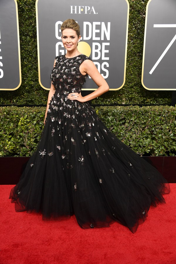 BEVERLY HILLS, CA - JANUARY 07:  TV personality Carly Steel attends The 75th Annual Golden Globe Awards at The Beverly Hilton Hotel on January 7, 2018 in Beverly Hills, California.  (Photo by Frazer Harrison/Getty Images) (Foto: Getty Images)