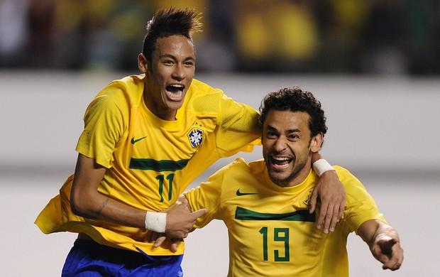 Neymar Fred gol Brasil x Argentina (Foto: AFP)