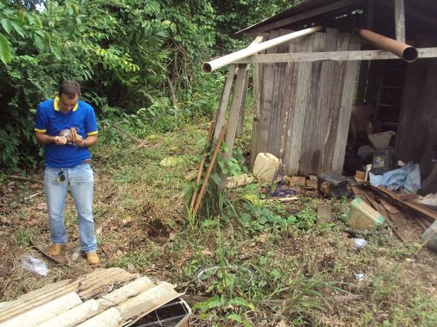Pesquisadores colearam solo ao redor de casas onde DDT era aplicado e também onde foi armazenado (Foto: Divulgação)
