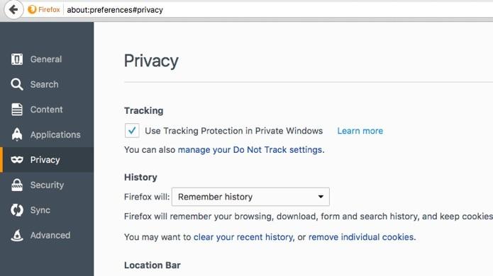Opções de privacidade (Foto: Reprodução/André Sugai)
