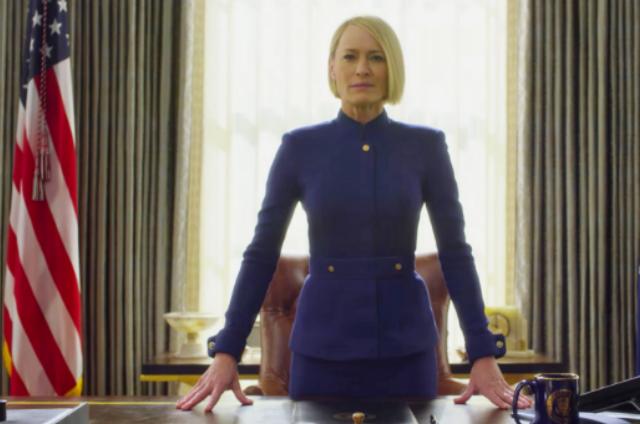 Robin Wright no teaser da nova temporada de 'House of Cards' (Foto: Reprodução)
