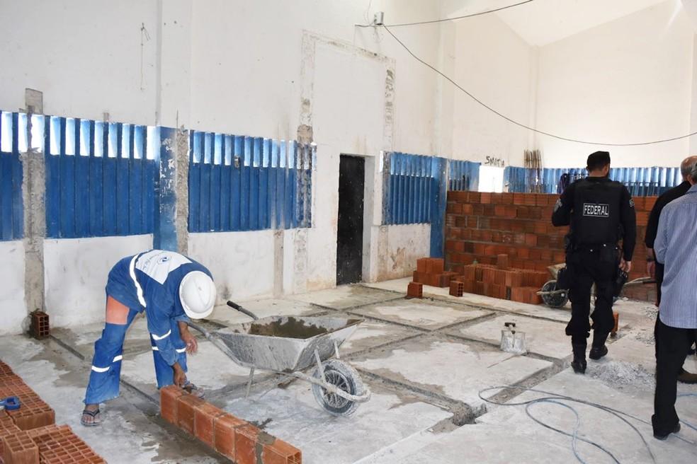 Reforma da maior penitenciária do RN deve ficar pronta em maio; obras estão avançadas (Foto: Divulgação/Governo do RN)