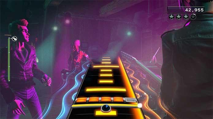 O novo sistema de solo em Rock Band 4 decepciona (Foto: Divulgação/Harmonix)