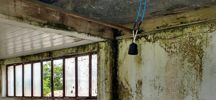 Cabine do estádio Juca Fortes, em Barras (Foto: Otávio Neto )