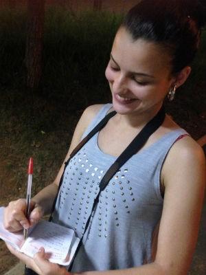 Vitória sempre teve certeza que prestaria comunicação (Foto: Ana Carolina Levorato/G1)