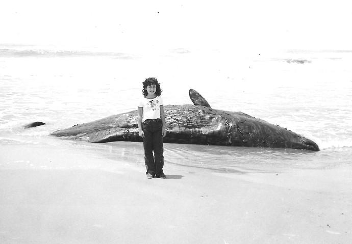 Grace Gianoukas aos oito anos em Rio Grande (Foto: Arquivo Pessoal)