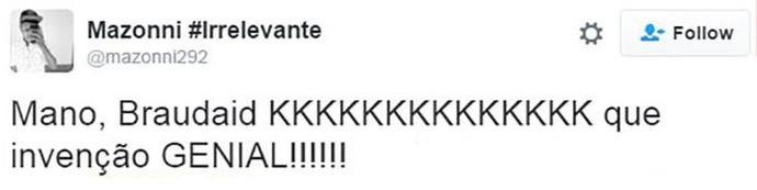 comentario braudaid (Foto: TV Globo)