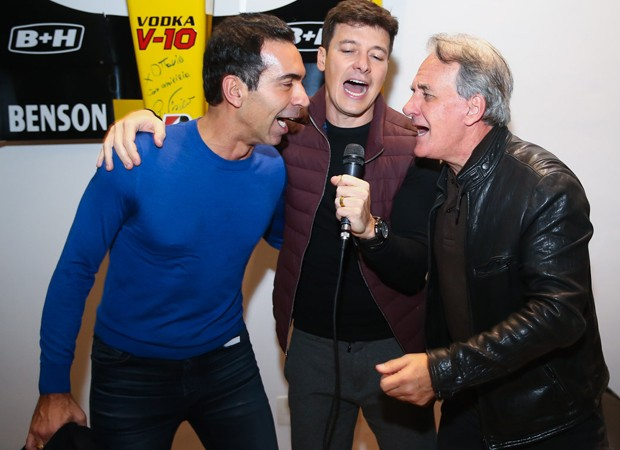 Céar Tralli, Rodrigo Faro e Otavio Mesquita (Foto: Manuela Scarpa/Brazil News)