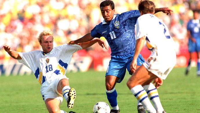 Romário Brasil e Suécia 13/07/1994  (Foto: Getty Images)
