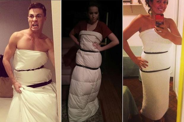 Paródias do vestido de Jennifer Lawrence (Foto: Twitter / Reprodução)