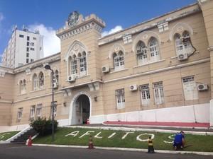 Quartel da PM, nos Aflitos, em Salvador (Foto: Rafael Teles/G1)