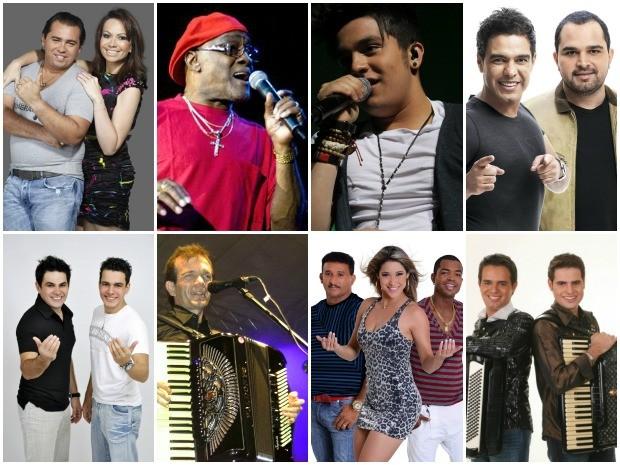 Serão atrações musicais locais, nacionais e internacionais no Réveillon de Fortaleza (Foto: Arte/G1)