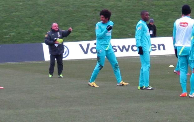 dante ramires brasil treino (Foto: Leandro Canônico)