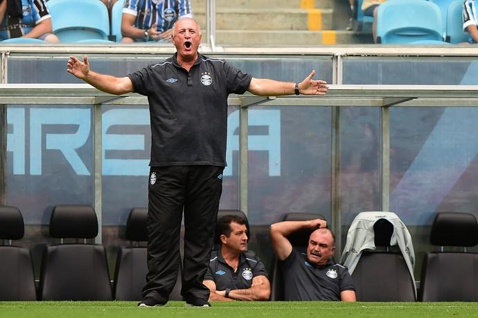 Scolari, Felipão, Grêmio x Veranópolis (Foto: Vinicius Costa / Ag. Estado)