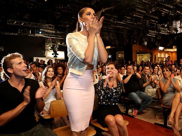 Camila Pitanga manda beijos para diretores e autores (Foto: Carol Caminha/Gshow)
