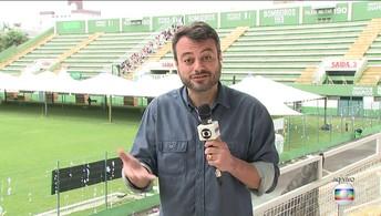 Eric Faria fala de como foi o sábado de despedidas da delegação da Chapecoense