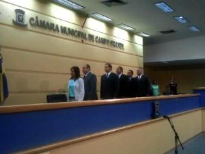 Prefeito Alcides bernal compareceu ao evento (Foto: Tatiane Queiroz/ G1MS)