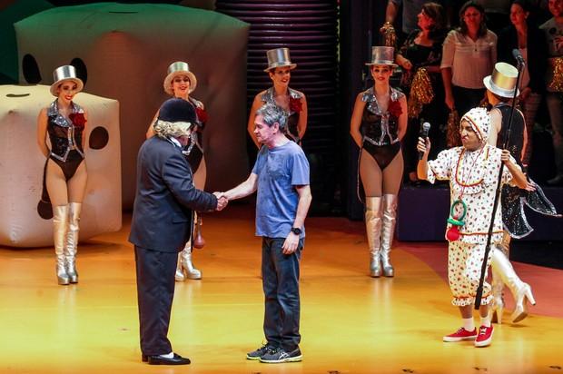 Serginho Groisman no espetáculo Chacrinha, o musical (Foto: Manuela Scarpa/Photo Rio News)