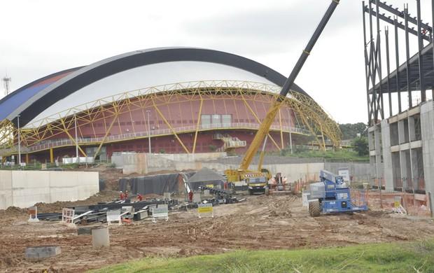 Canteiro de obras da Arena Pantanal em Cuiabá - 12 (Foto: Dhiego Maia/globoesporte.com)