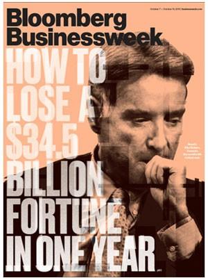 Capa da 'Bloomber Businessweek' irozina como Eike perdeu sua fortuna. (Foto: Reprodução/Bloomberg Businessweek)