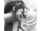 Deborah Secco posta foto fofa com a filha, Maria Flor e diz: 'Papai artista'