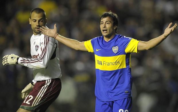 Cavalieri e Cvitanich , Boca Juniors x Fluminense (Foto: Agência AFP)