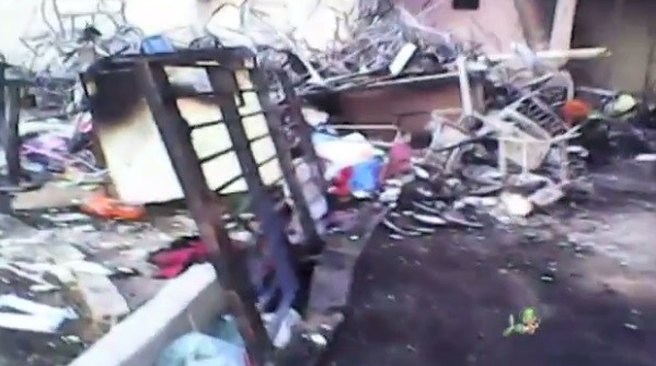 Em das rebeliões, Centro São Miguel teve móveis destruídos (Foto: Reprodução)