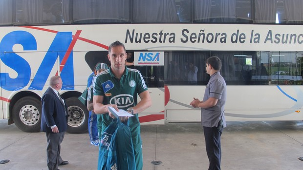 Fernando Prass Palmeiras Paraguai (Foto: Marcelo Prado)