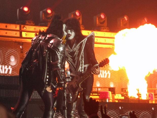 Show do Kiss na HSBC Arena durou cerca de 1h40 (Foto: Paulo Mauricio Costa/G1)