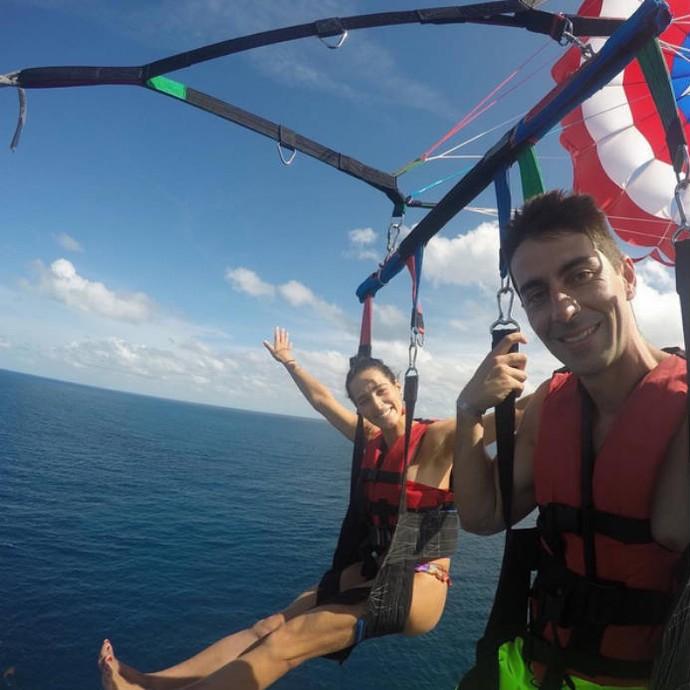 Ágatha, do vôlei de praia, pratica esportes radicais nas férias (Foto: Reprodução)