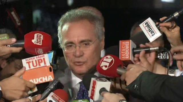 Renan diz que há uma decisão da Mesa Diretora que tem que ser observada