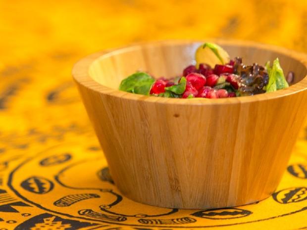 Salada verde com rom e vinagrete de laranja (Foto: Joo Franco)