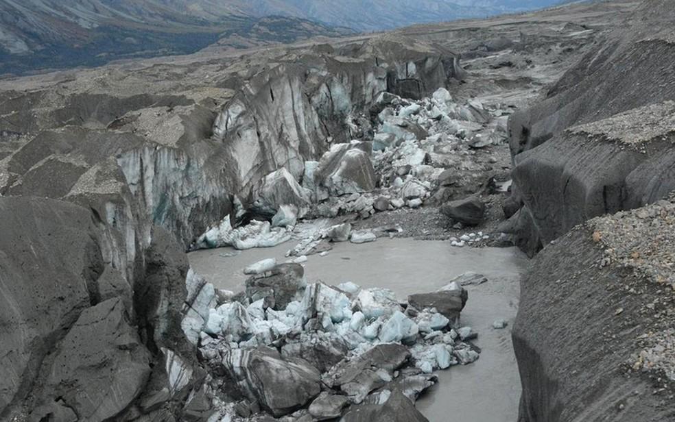 Este cânion leva agora quase toda a água do desgelo até o golfo do Alaska, através do Alsek (Foto: Jim Best/Universidade de Illinois)
