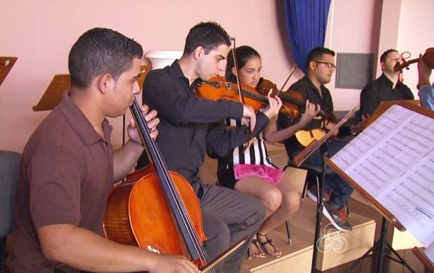 Orquestra 'Clássico Para Todos' de Roraima se apresenta nesta quinta-feira (29) (Foto: Roraima TV)