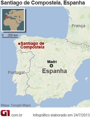 mapa compostela acidente trem (Foto: 1)