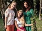 Diferente da filha vegetariana, Luiza Brunet diz: 'Prefiro um leque de opções'