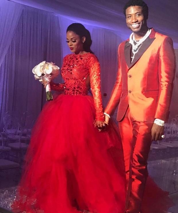 Ensaio do casamento do rapper Gucci Mane com a modelo Keyshia Ka'oir  (Foto: Reprodução/Instagram)