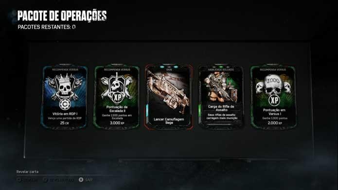 Consiga novas skins em pacotes de Gears of War 4 (Foto: Reprodução/Murilo Molina)
