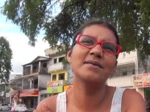 Adriana Francisca, de 32 anos moradora de Nova Constituinte (Foto: Valma Silva / G1)