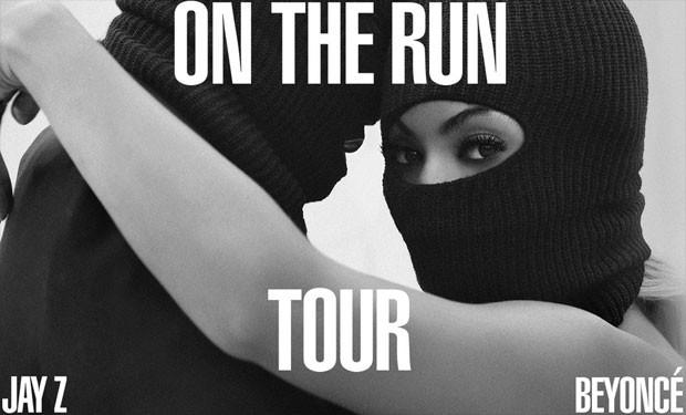 Anúncio da 'On the run our', de Beyoncé e Jay-Z (Foto: Divulgação)