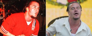 Eddie Vedder, Patton, D2: veja &#39;antes e depois&#39; dos vocalistas (Ian Dickson/Redferns/Getty Images e Flavio Moraes/G1)