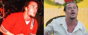 Eddie Vedder, Patton, D2: veja 'antes e depois' dos vocalistas (Ian Dickson/Redferns/Getty Images e Flavio Moraes/G1)