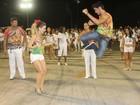 Rodrigo Simas e Monique Alfradique ensaiam na Sapucaí