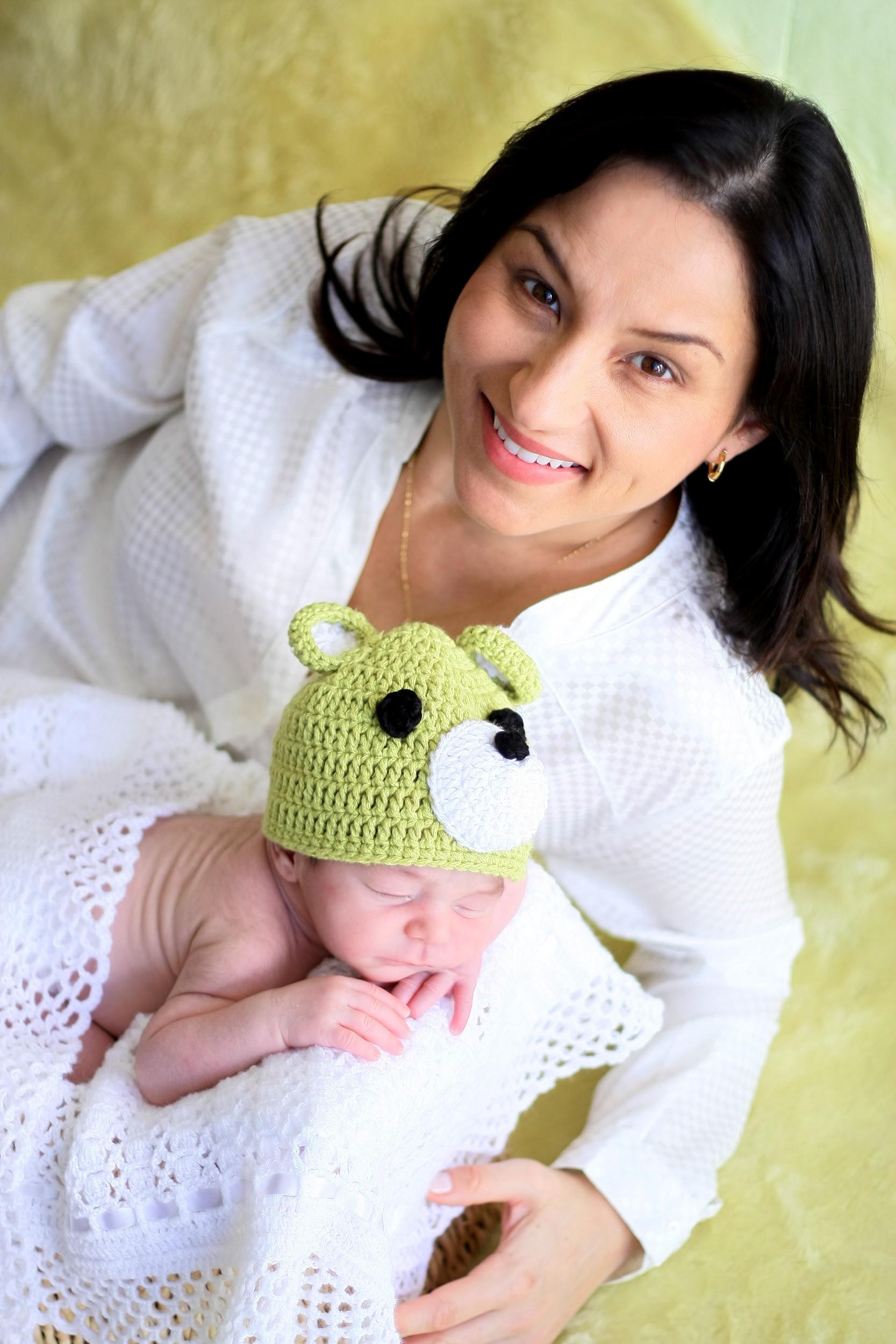 Sonia Campos deu à luz Davi em parto natural (Foto: Vera Bonfante/Divulgação)