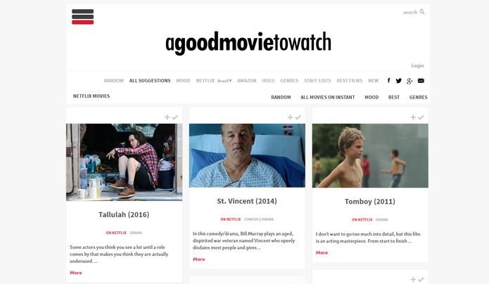 A Good Movie to Watch é uma plataforma que permite personalizar para títulos disponível no Brasil (Foto; Reprodução/Barbara Mannara)