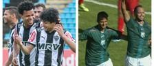 Atlético-MG e Caldense encerram segunda rodada do Mineiro (montagem/GE)