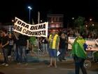 Manifestantes protestam contra o governo na região de Itapetininga