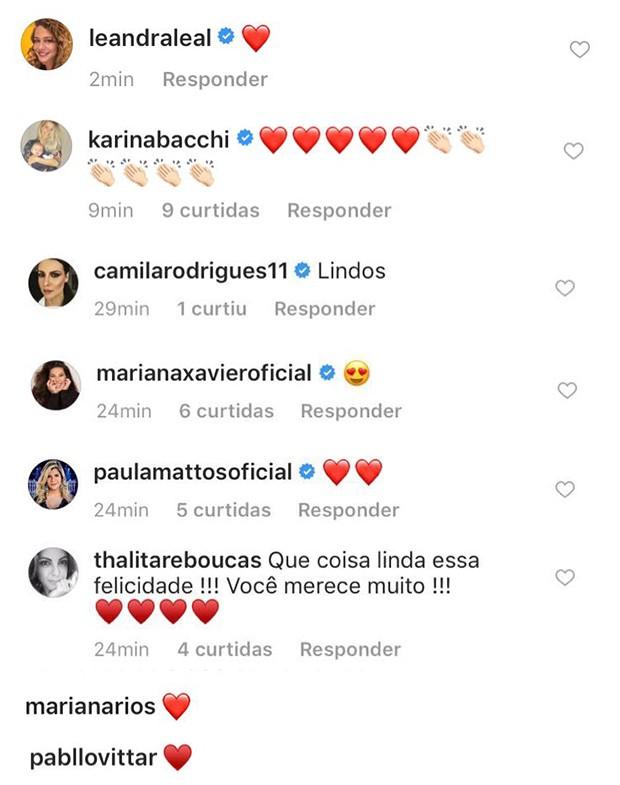 Comentários de Fátima Bernardes (Foto: Reprodução/ Instagram)