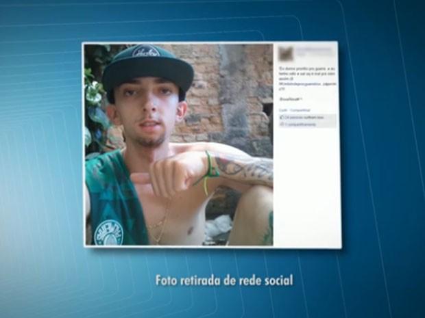 Palmeirense voltava do jogo deste domingo quando foi agredido (Foto: Reprodução/TV Globo)