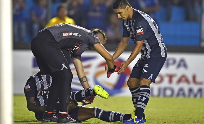 Jordan Andreas, Emelec X Goiás (Foto: Agência AFP)